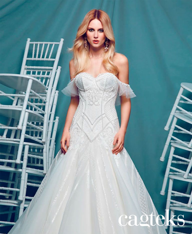 CAGTEKS WEDDING GOWNS AND EVENING DRESSES Collection 2016   Turkish ...