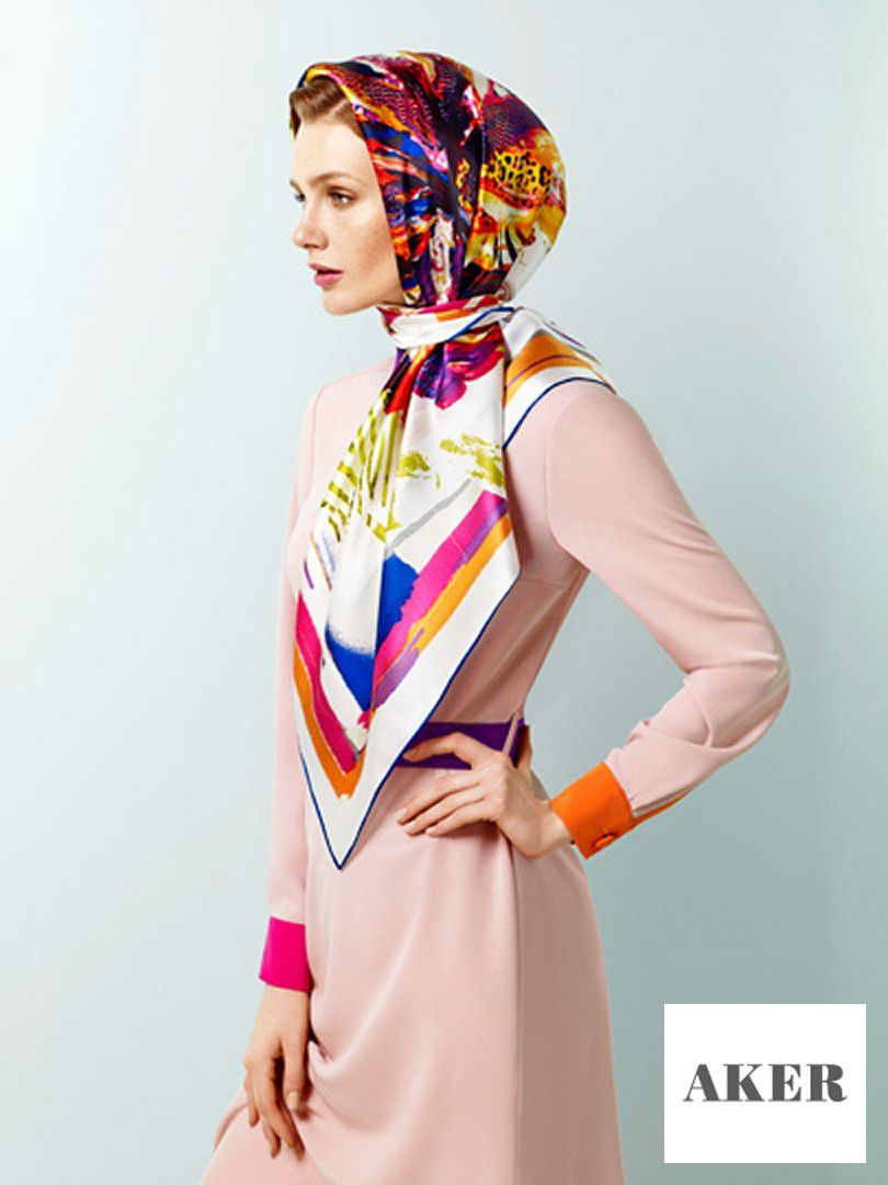 Collection Hijab Fashion 2014 AKER SCARF